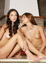 Sharon E Anna Aj - Incredible gallery with nude pics of two pretty lesbians